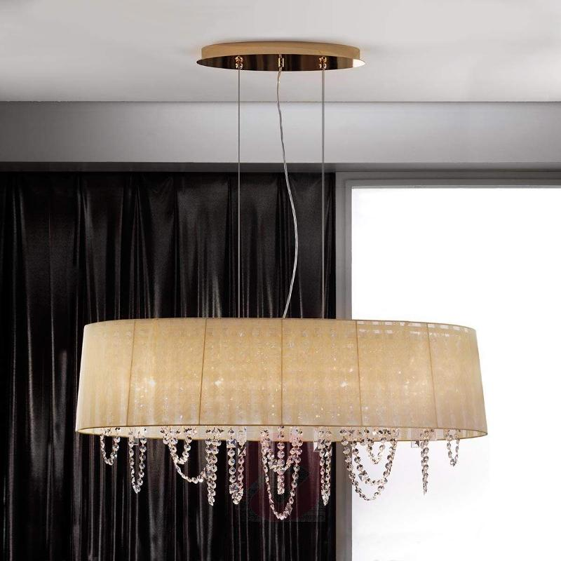 Jevana Hanging Light Gold-Plated with Decorations - Pendant Lighting
