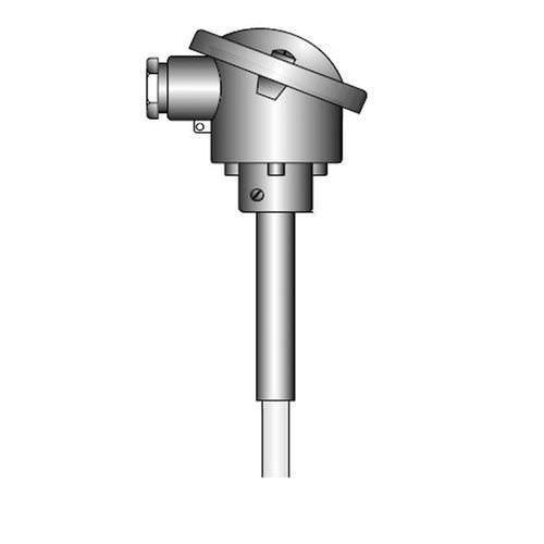 OPTITEMP TCA-P63 - Sensor de temperatura termopar tipo K / de brida / con termopozo de cerámica
