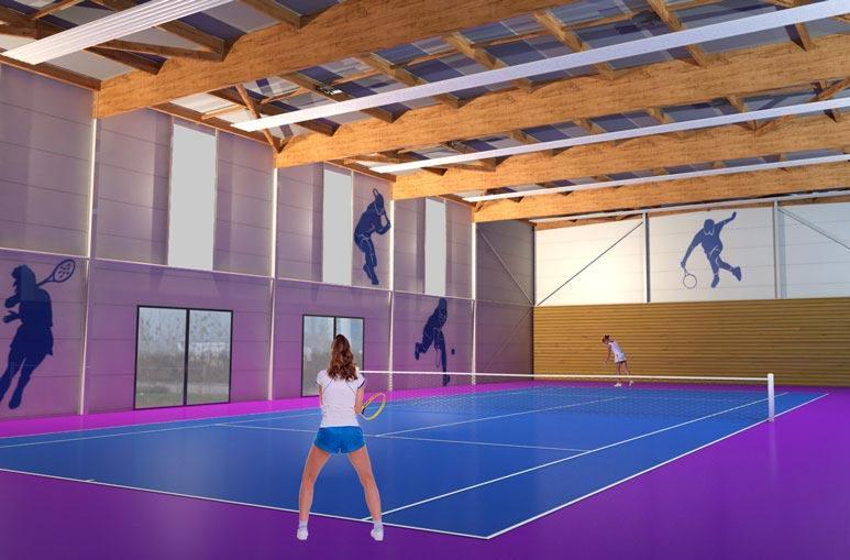 Court de Tennis - Système de construction - Bâtiments sportifs et Espaces Loisirs