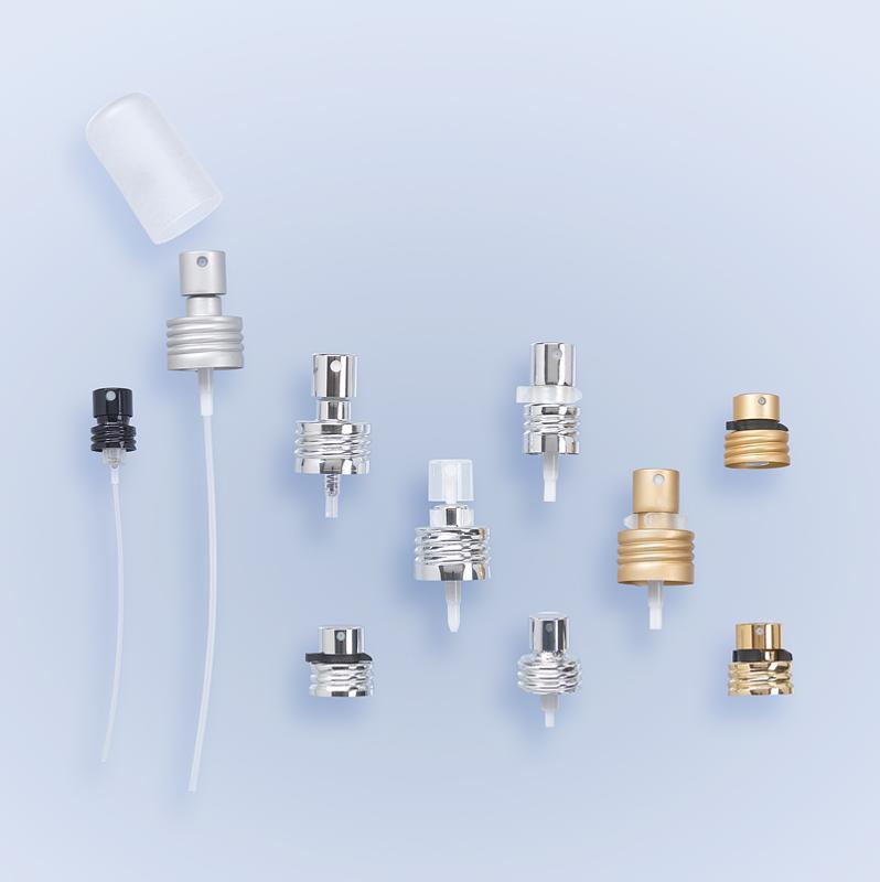 Pompes Parfumerie Pompes - Pompe à vis spray bague métal pas de vis apparent