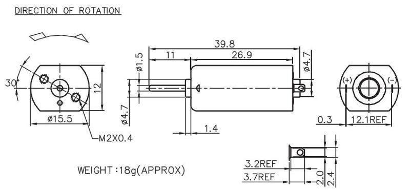 F-050 - Brush DC Motor