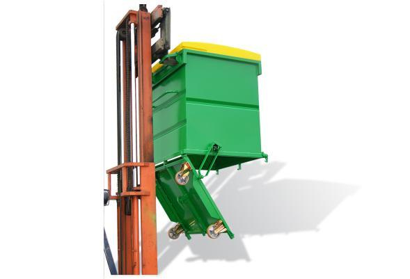 Benne à fond ouvrant avec couvercle polyéthylène - Bennes de manutention