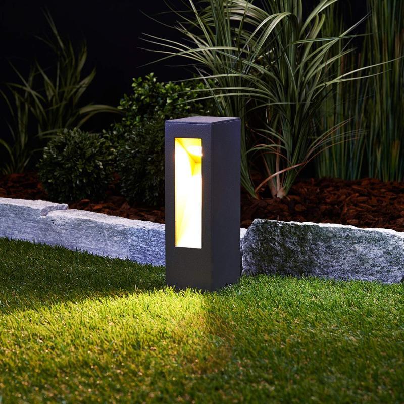 Jenke impressive LED pillar light - outdoor-led-lights
