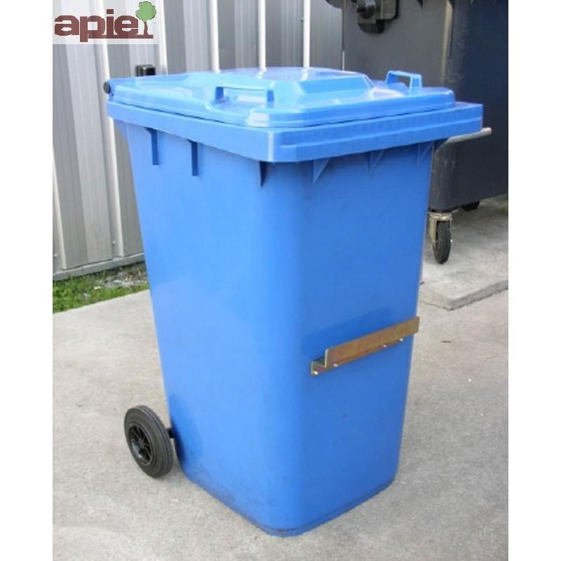 Conteneur poubelle à 2 roues, pour la collecte des déchets - Référence : POUB/PE/120L