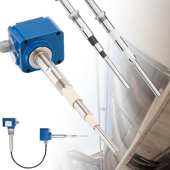Sensor capacitivo RFnivo® RF3000 para medição pontual - Multifuncional para quase todos os tipos de materiais a granel
