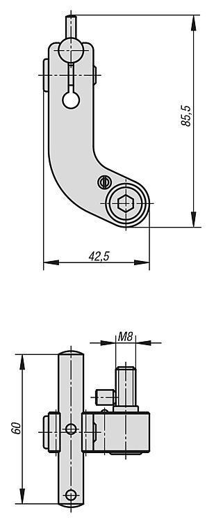 Butée réglable - Etau de bridage 5 axes compact