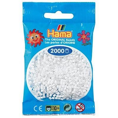 Hama Beads MINI - Hama Beads MINI (2,5 mm.) color blanco bolsa de 2000 beads
