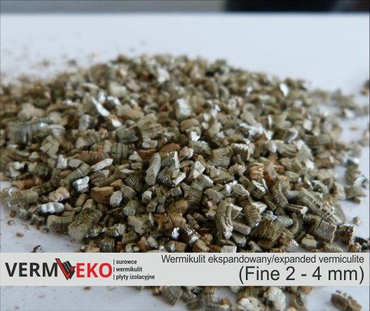 Expanded vermiculite Fine fraction