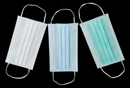 Masque - bleu, blanc, vert, jaune etc. 17,5 x 9,5 cm ou personnalisé