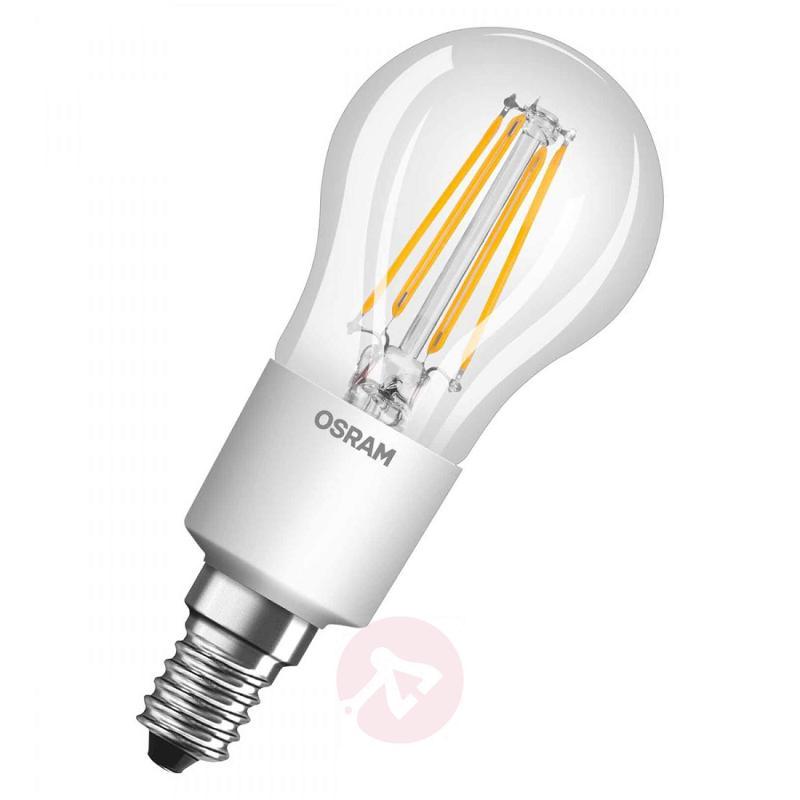 E14 4.5 W LED filament golf ball bulb, dimmable - light-bulbs