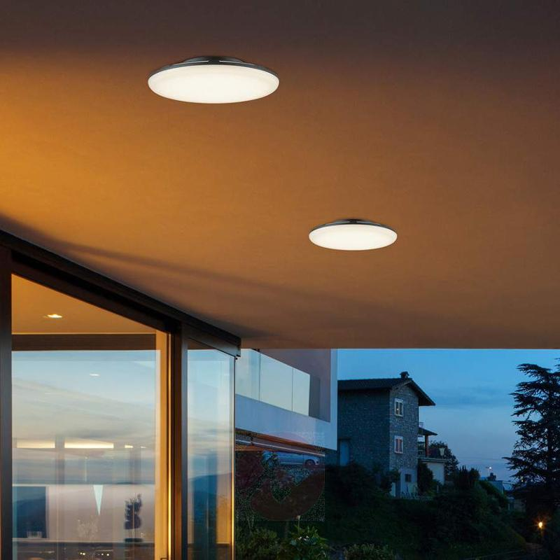 Bering - LED ceiling light in anthracite, 27 cm - Outdoor Ceiling Lights