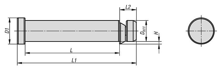 Lifting bolts with retaining ring - K0585