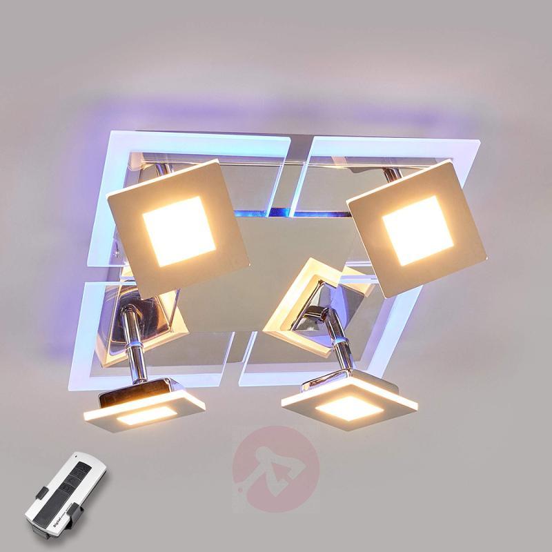 4-bulb square LED ceiling lamp Namika - indoor-lighting