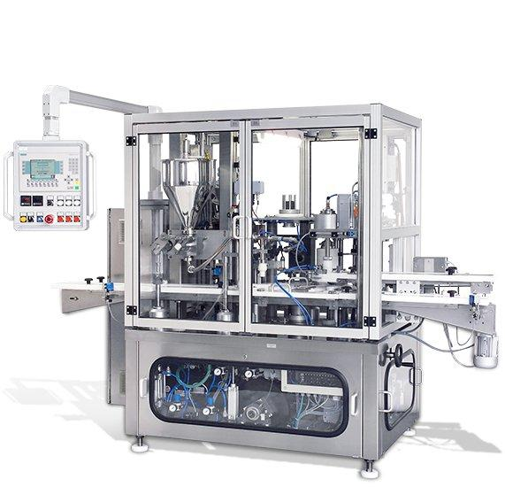 BaCo3600-vollautomatische  Siegelanlage - BaCo3600 - vollautom. Füll-, Folienauflege- und Siegelanlage mit Verschrauber