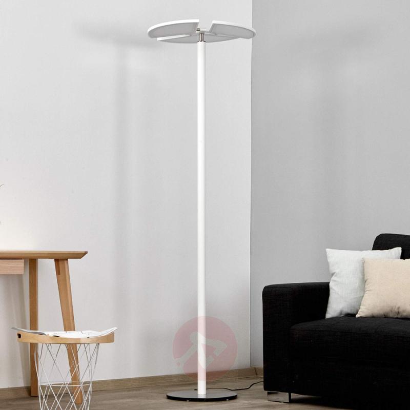 White Aurela LED floor lamp - indoor-lighting