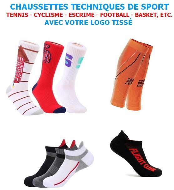 Fabrication De Chaussettes Sur Mesure - Chaussettes Techniques de Sport Personnalisées - Tennis - Cyclisme