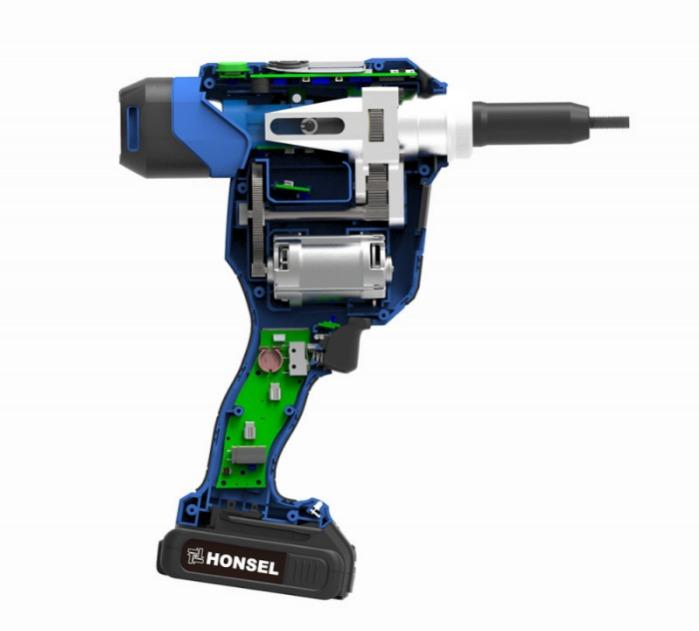 Honsel Rivdom eVNG 2 - Battery-powered setting tool for blind rivet nuts and bolts