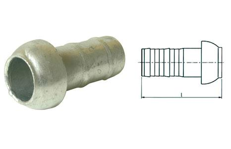 Kardan couplings - Kardan male adapter with crimped hose nozzle I galvanised