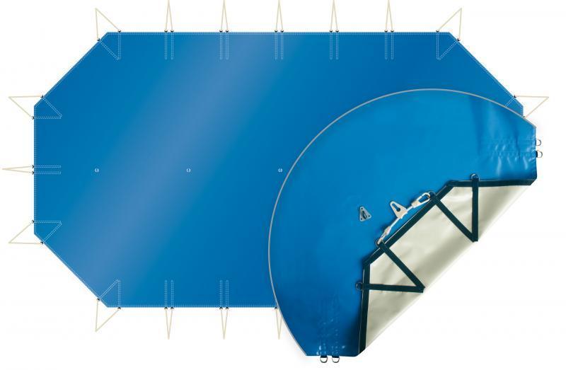 Couverture octogonale allongée pour piscine hors sol bois 8mx4m - bachepiscineocalb