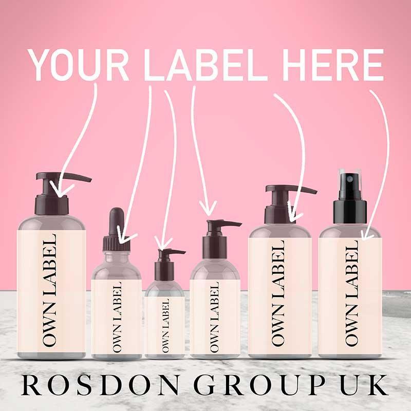 Own Label - Face Serum - Snail Slime - MADE IN UK  - 30ml, Clear Bottle & Black pump. EU certified