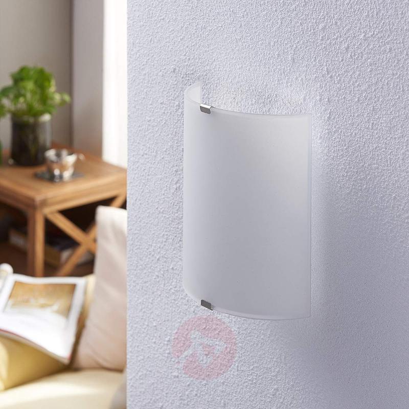 Semicylindrical LED wall light Helmi - Wall Lights