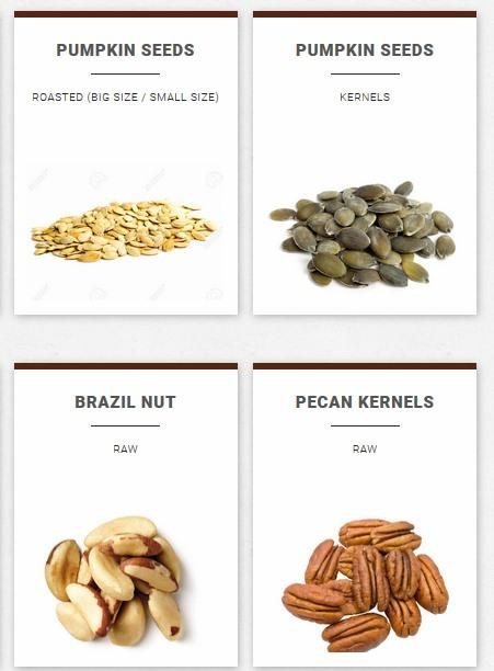 Dried fruits - Nut trading since 1950