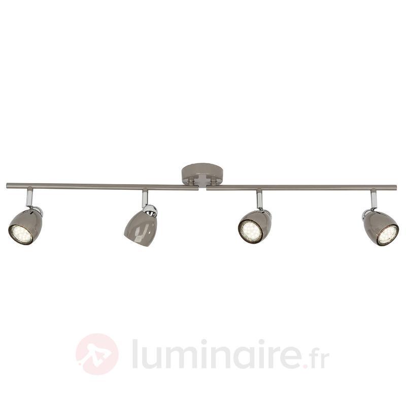 Plafonnier avec spots LED Milano à 4 lampes - Spots et projecteurs LED