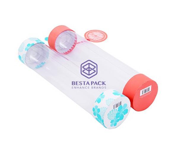 Pappersrör - Pappersrör med transparent cylinder, PET-lock och hängmärke