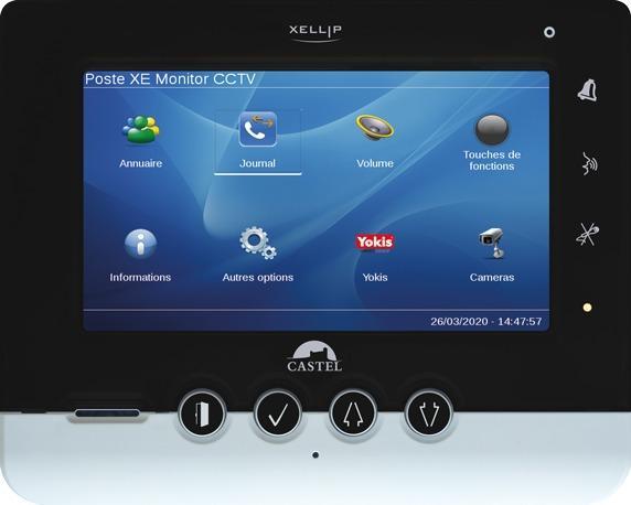 XE MONITOR CCTV - Interphonie IP - Moniteur de réception audio vidéo Full IP/SIP avec fonctionnalités domotique