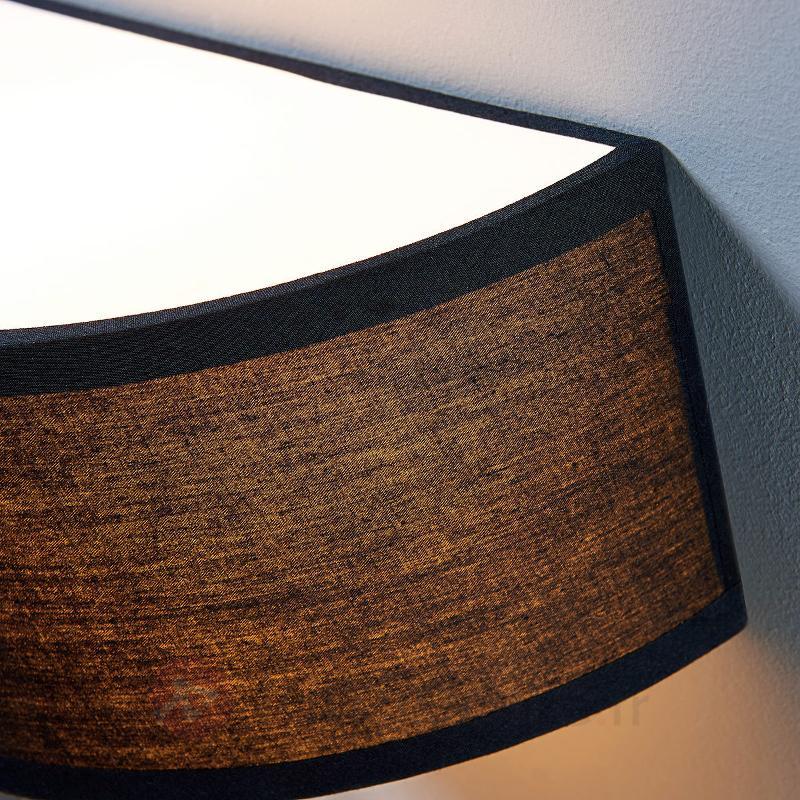 Applique textile noire Katrien, semi-circulaire - Appliques en tissu