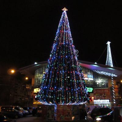 Уличные искусственные елки - Высотные искусственные елки для украшения городских территорий, ресторанов
