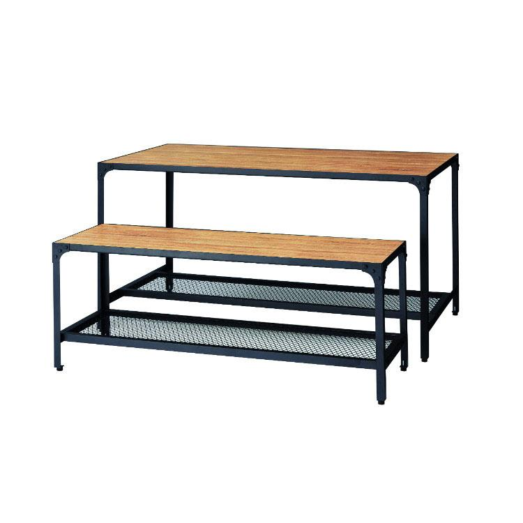 Rustic Display Table - With Mesh Storage Shelf -Several sizes available
