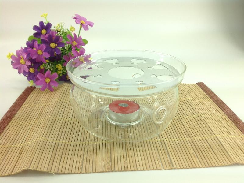 HEAT RESISTANT GLASS TEAPOT WARMER  - null