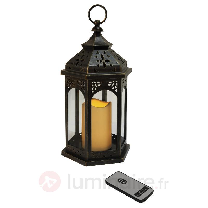 Lanterne LED Ambre 33 cm noire - Décorations de Noël LED d'extérieur