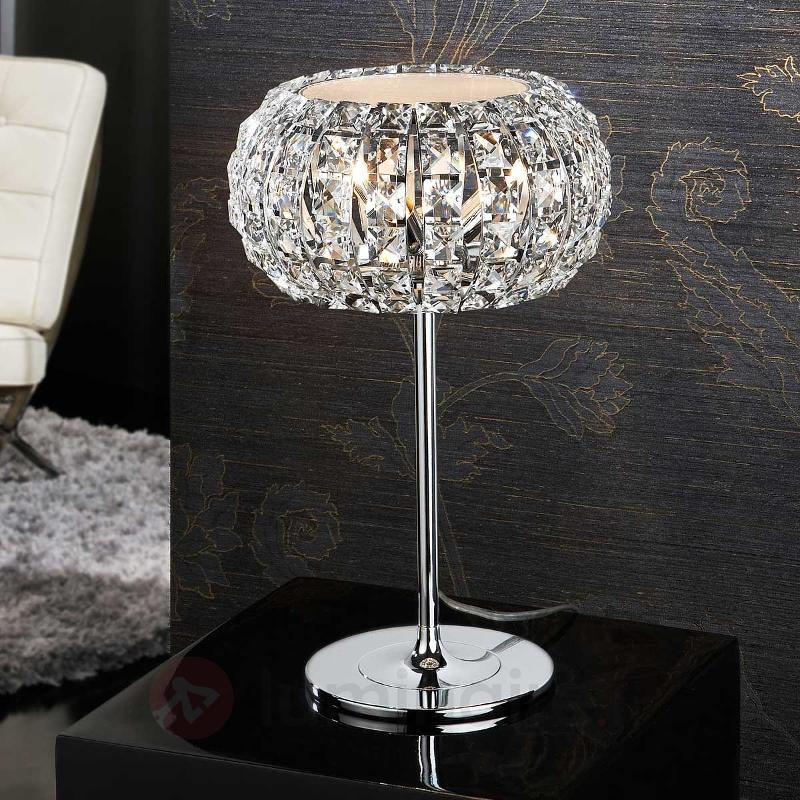 Lampe à poser DIAMOND dotée de cristaux - Lampes à poser en cristal