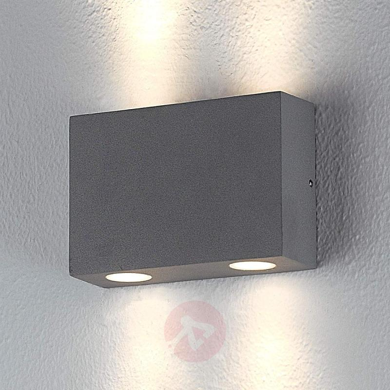 Rectangular outdoor wall light Henor with 4 LEDs - outdoor-led-lights