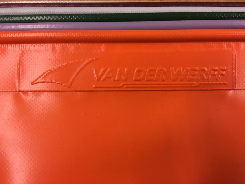 keder in kleur orange - Doppel seitig PVC Keder