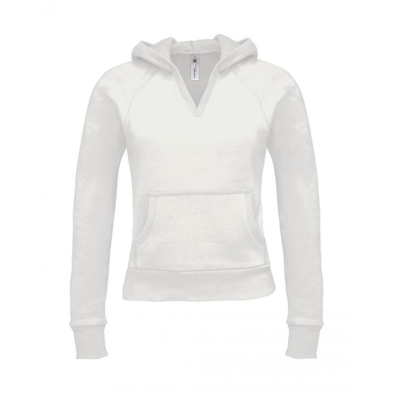 Sweat shirt col V - Avec capuche
