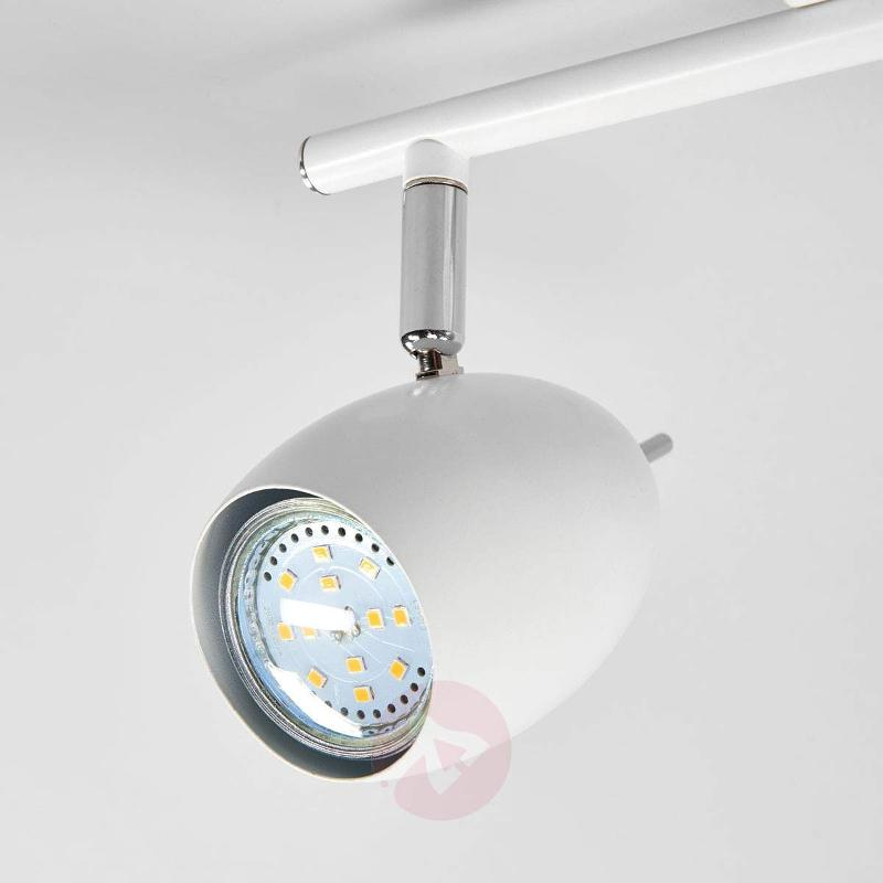 2-bulb Philippa LED spotlight in white - Ceiling Lights