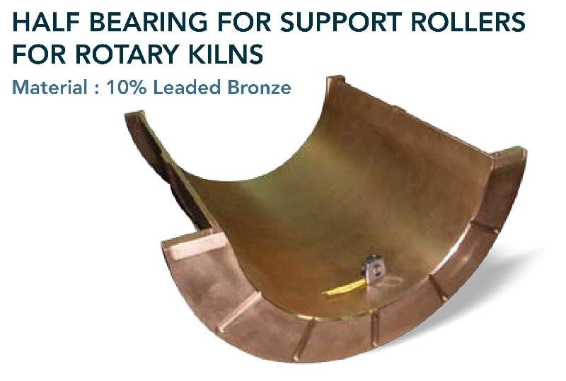 Half bearing  - Cement & mining industry - for support rollers for rotary kilns