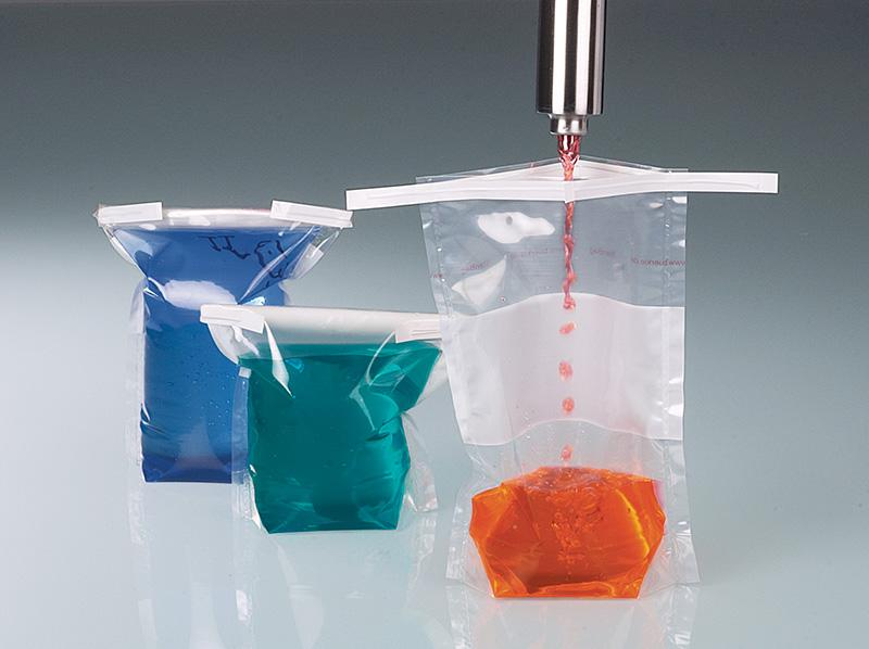 Colector de líquido, perforación para el pulgar - Muestreador para líquidos, desde muy fluidos hasta viscosos