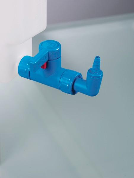 StopCock angled - Drain cock, rotatable spout preventing drips
