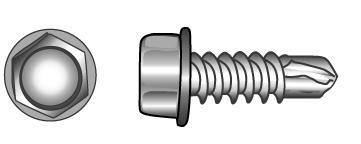 Bohrschrauben mit Sechskant und Bund, Form K - Material A2 | A4