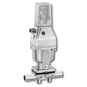 Pneumatisch betätigtes Membranventil GEMÜ 651 - Das 2/2-Wege-Ventil hat einen Edelstahl-Kolbenantrieb und wird pn. betätigt.