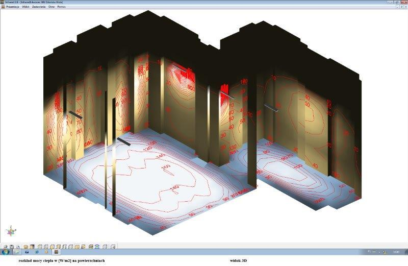 projektowanie ogrzewania systemem SOLART - projektowanie uzyskania rządanych mocy za pomocą elektrycznych promienników Sola