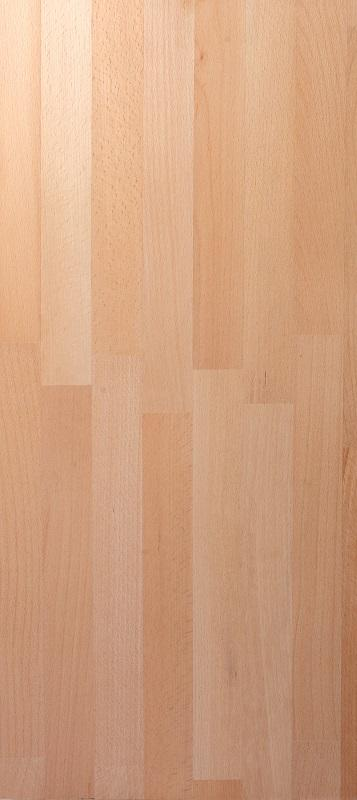 Finger jointed panels in oak and beech -