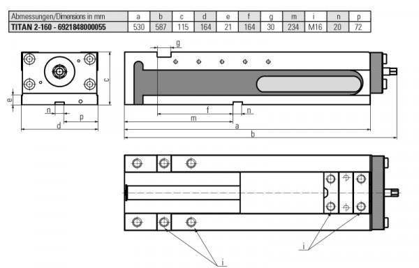 Version TITAN 2-160 - Konventionelles Spannen, Grippspannen und Niederzugspannen in einem