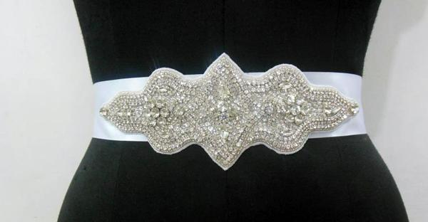 Crystal Bridal Belts - Bridal Embroideries Development - Manufacturing - Bridal Sashes, Bridal Belts, Bridal Trims, Embroideries