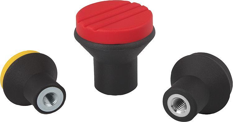 Bouton champignon avec taraudage - Poignées et boutons