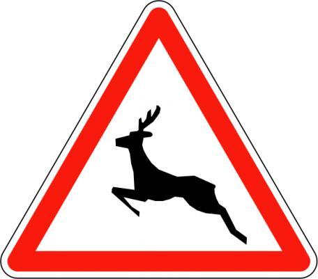 Panneau A15b Passage D'animaux Sauvages - Balisage De Chantier Et Panneaux Routiers